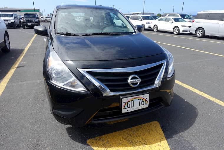 ハワイ島のダラーレンタカーで借りた車