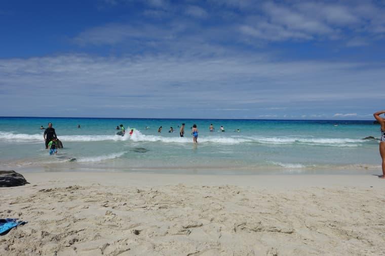クワベイの砂浜