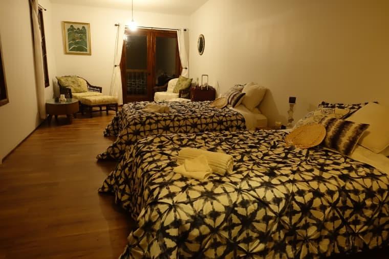 泊まる部屋も広くて清潔
