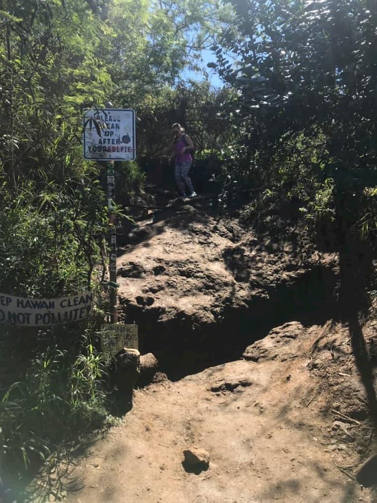 ラニカイピルボックスへの道はかなり険しい登り道