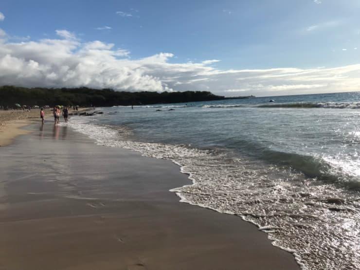 ハプナビーチの海岸の様子