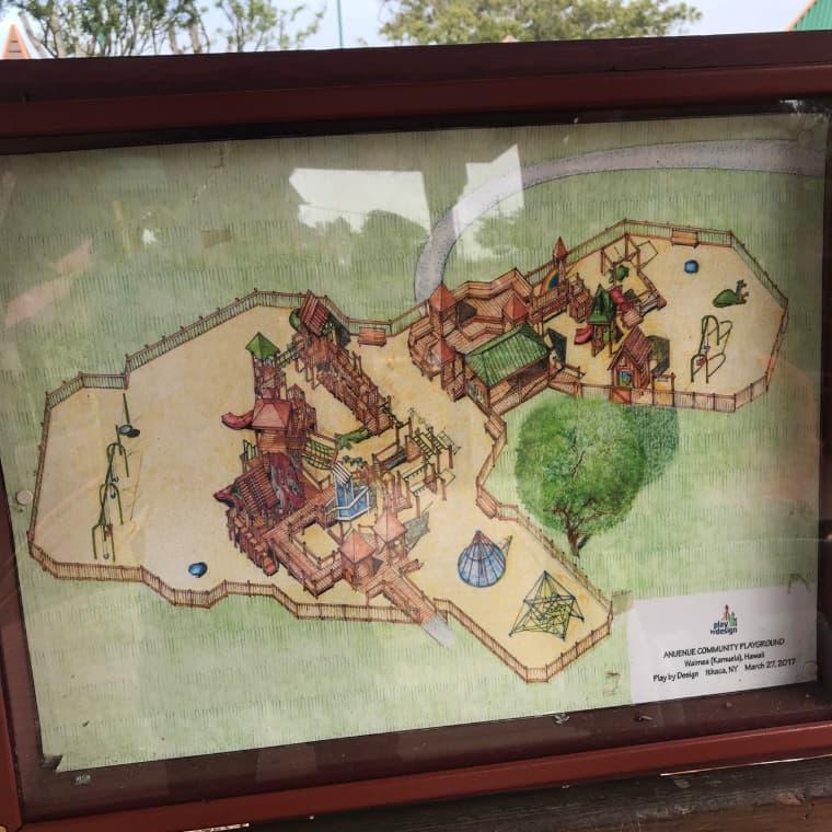 ワイメアパークのマップ