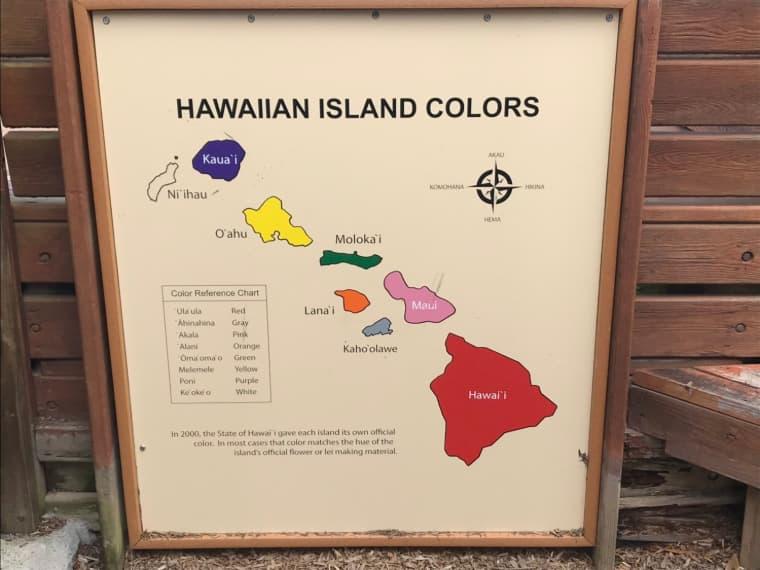 ハワイ各島のオフィシャルカラー