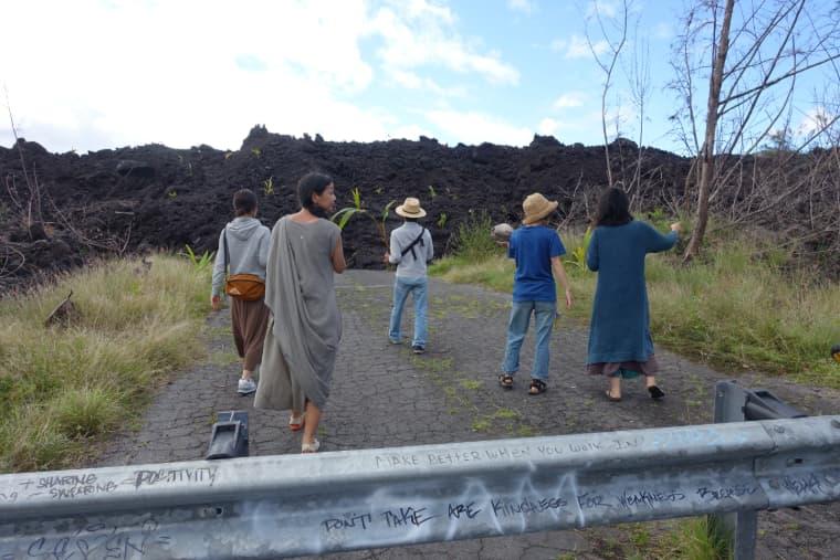 2018年のハワイ島溶岩跡地