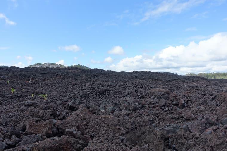 溶岩に登った時の景色2