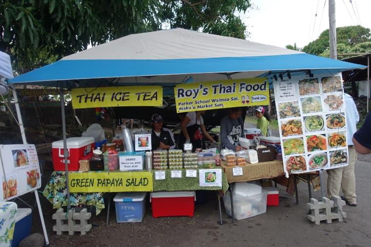 カラパナナイトマーケットのタイ料理