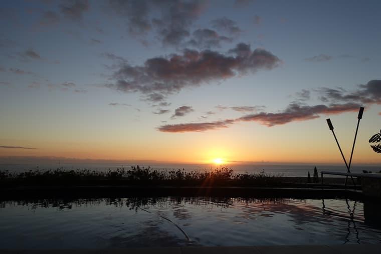 パイナップルハウスの夕日3