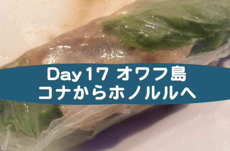 ハワイ子連れブログ17日目
